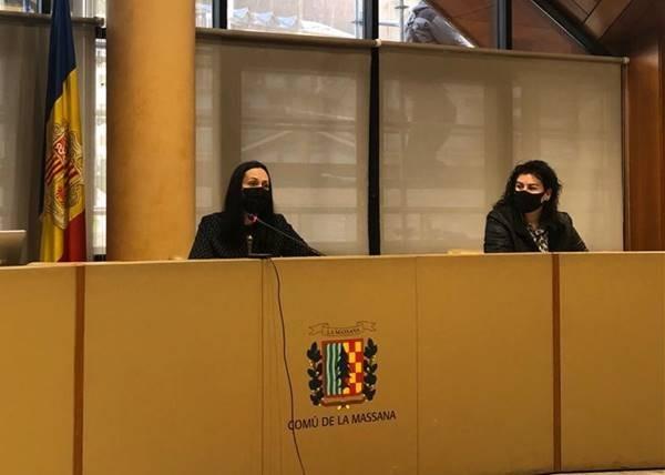 La cònsol major, Olga Molné, durant la sessió de consell de comú de la Massana d'aquest matí.