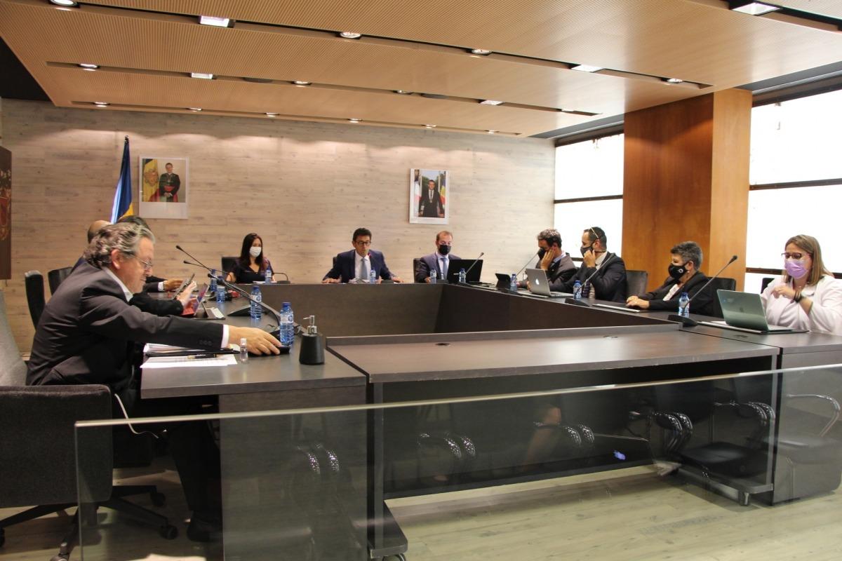 Un moment de la sessió del Comú d'Ordino d'aquesta tarda.
