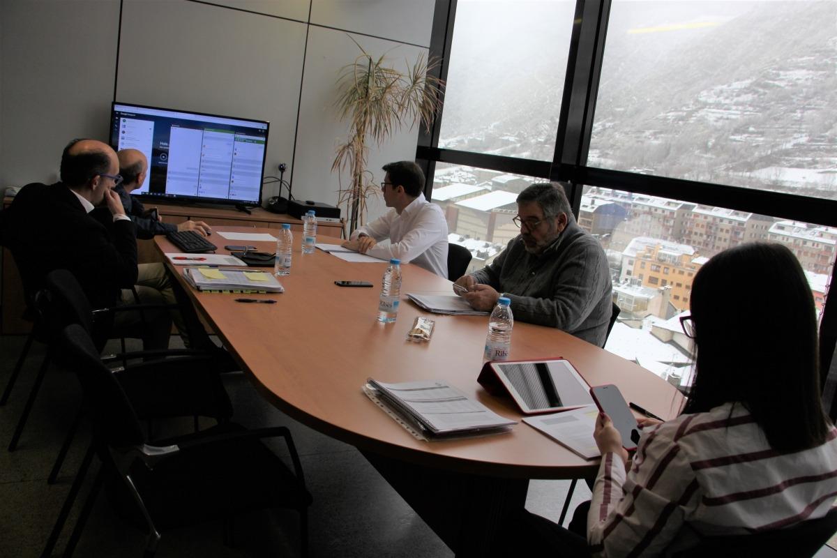 Sessió per videoconferència del consell de Comú.