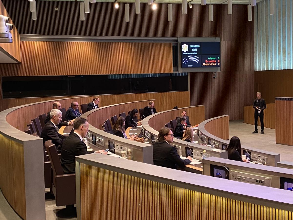 Un moment de la sessió del Consell General d'aquest matí.
