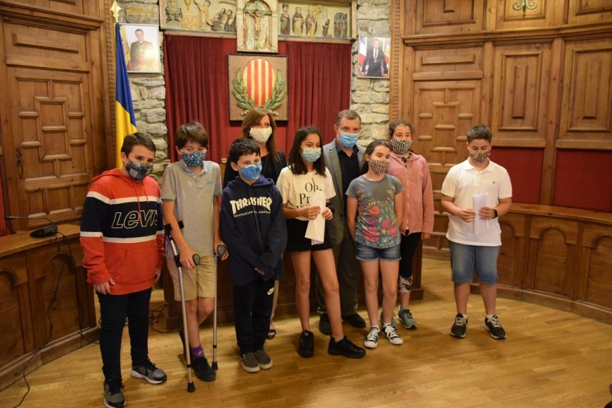 Foto de família un cop finalitzada la 12a edició del Consell d'infants de Sant Julià de Lòria.