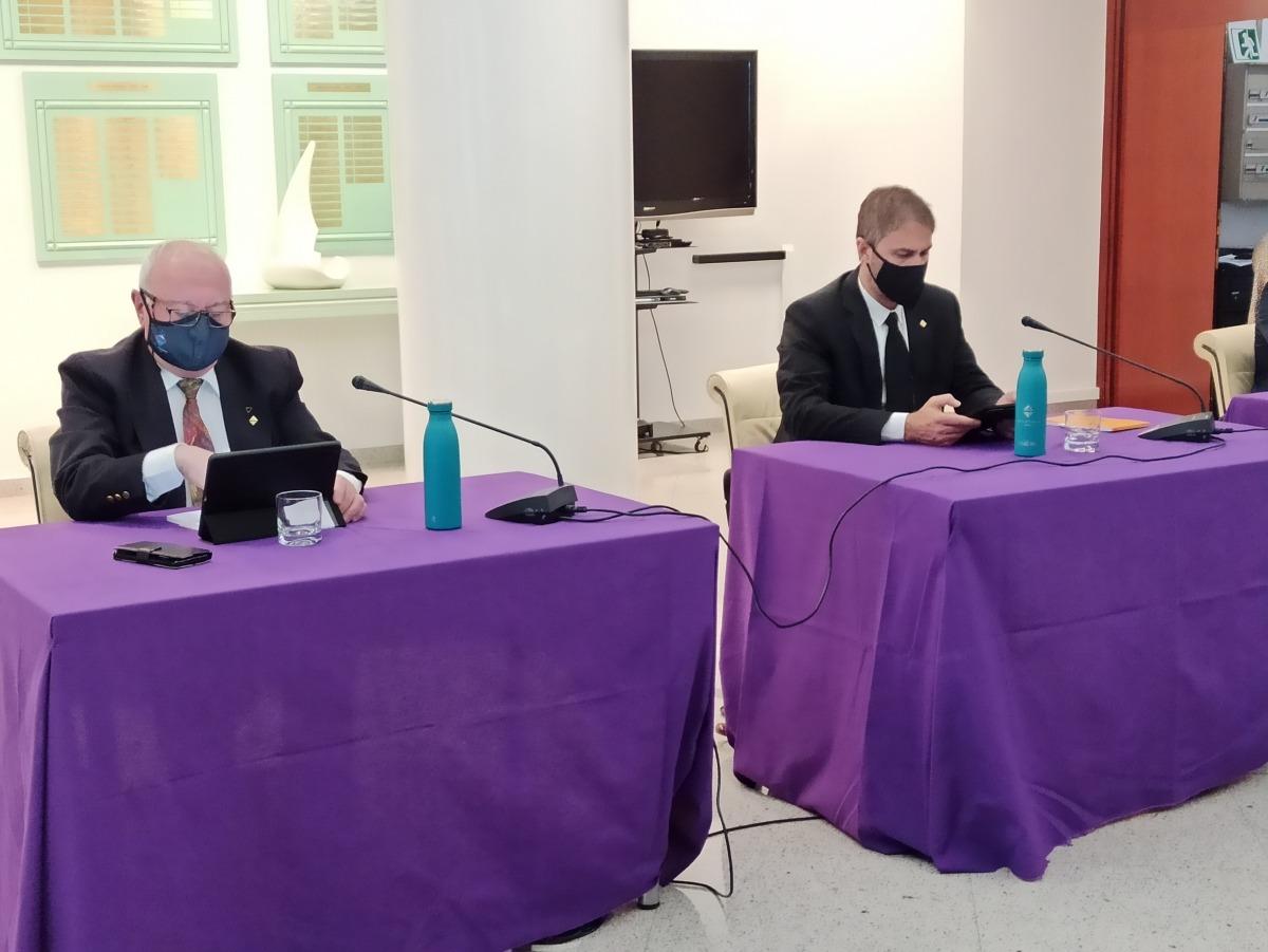Els consellers de PS+I d'Encamp, Enric Riba i David Rios.