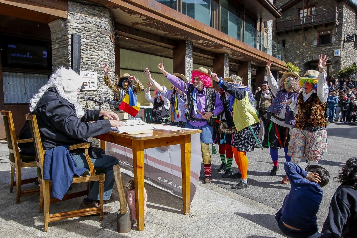 Una representació anterior dels 'Contrabandistes' a Ordino.