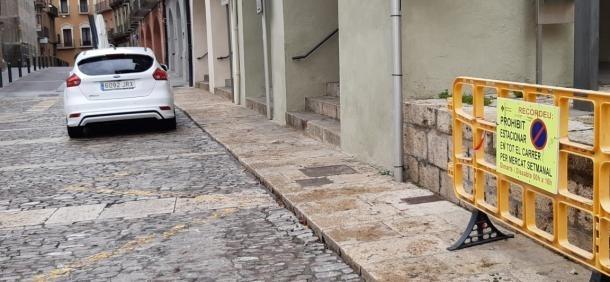 Els carrers de la Seu cotinuen buits durant aquesta Setmana Santa.