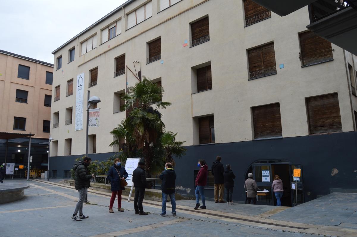 La sala la Cuina, un altre dels punts de votació a la capital alturgellenca