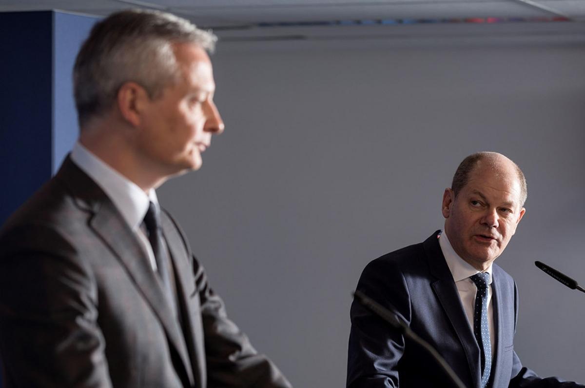 El ministre francès de Finances, Bruno Le Maire, i el seu homòleg alemany, Olaf Scholz.