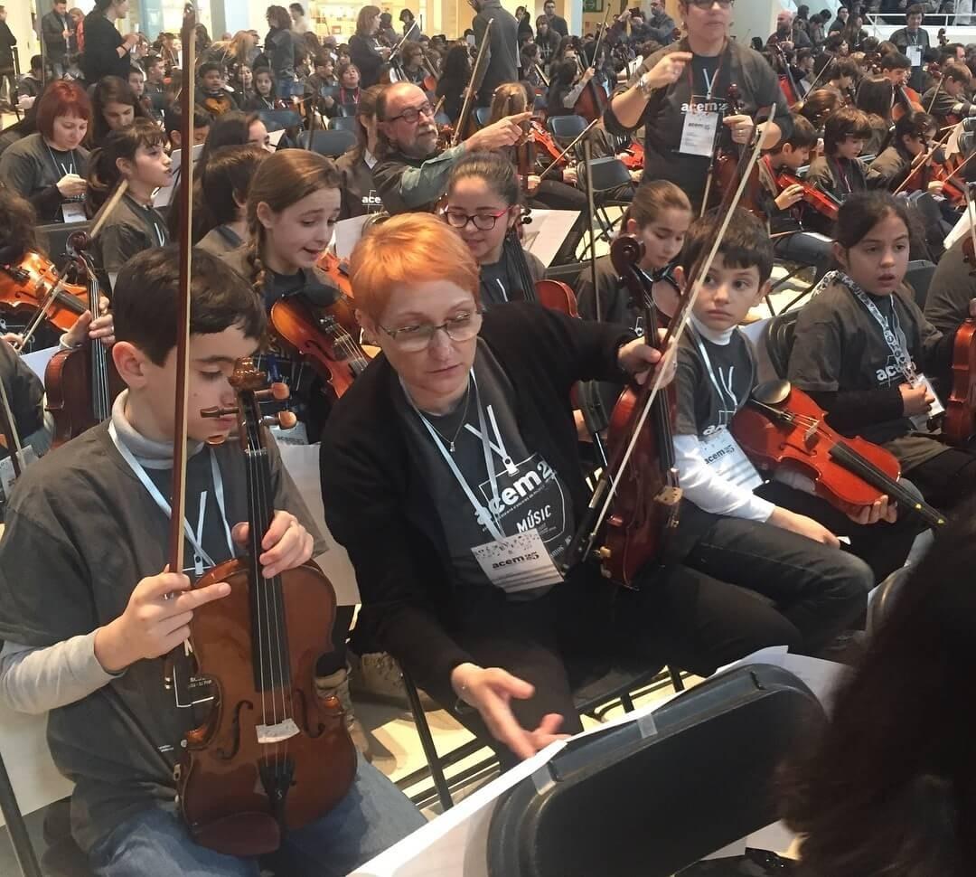 Alumnes de l'Escola municipal de música de la Seu d'Urgell