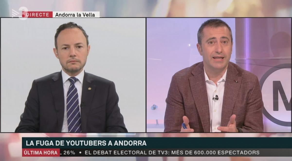 El cap de Govern, Xavier Espot, avui a Els Matins de TV3.