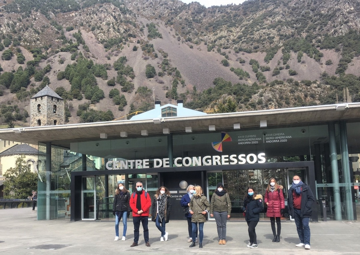 Els participants en el Fam trip de l'Andorra Convention Bureau.