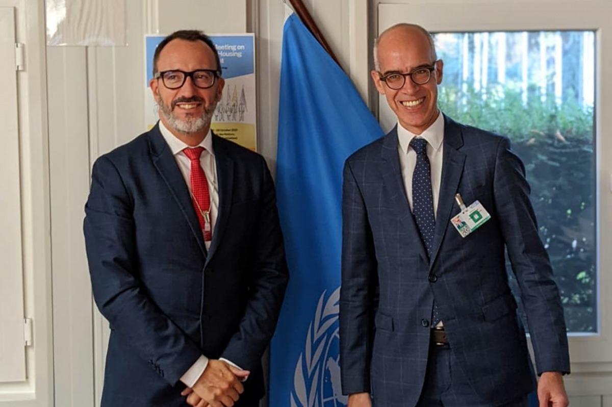 Filloy amb el director de l'Oficina Federal d'Habitatge de Suïssa, Martin Tschirren.
