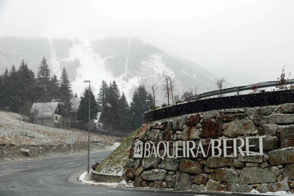 L'estació de Baqueira Beret.