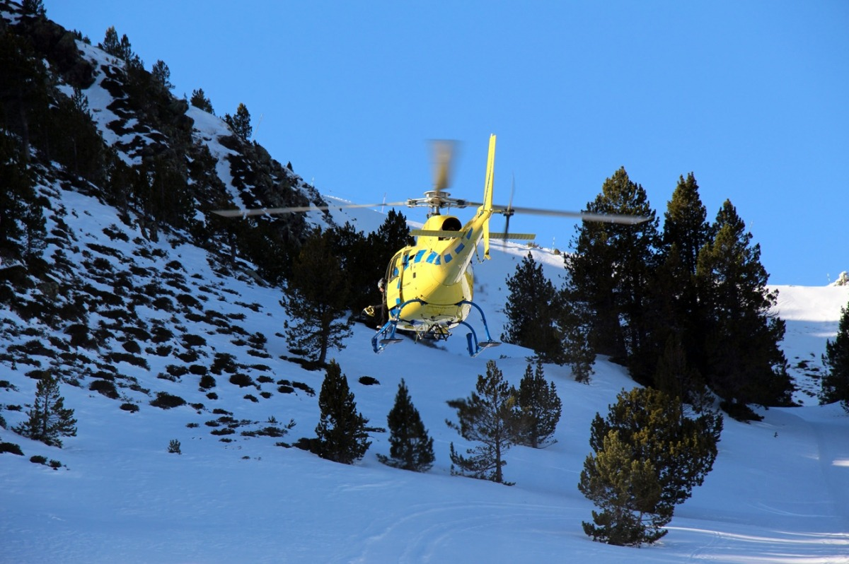 Es duplica l'activitat de l'helicòpter per urgències mèdiques en rescats