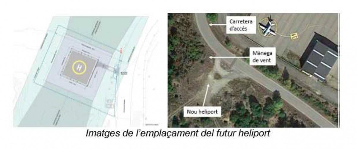 Plànol del futur heliport.
