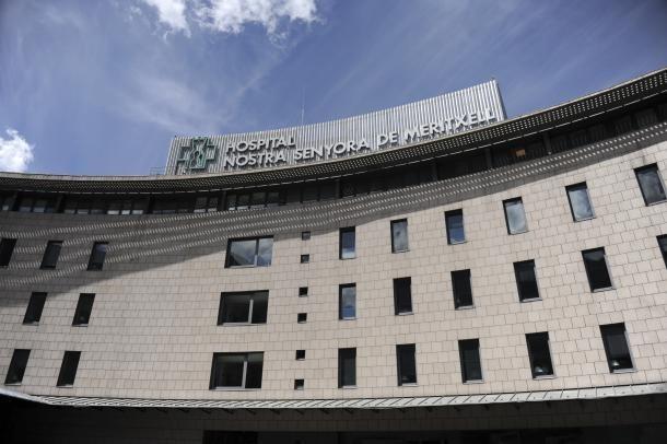 Vista de la façana de l'hospital.