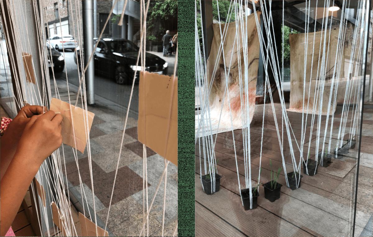 Evolucions de la instal·lació 'El Cicle', d'Emmanuelle Besnard, que ha volgut plasmar les diverses etapes de la vida.