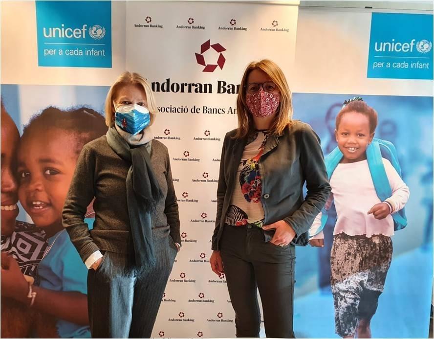 Andorra Banking i Unicef col·laboren en diversos projectes.