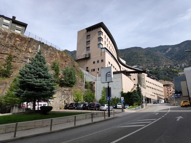 Perspectiva de l'hospital des de Fiter i Rossell.