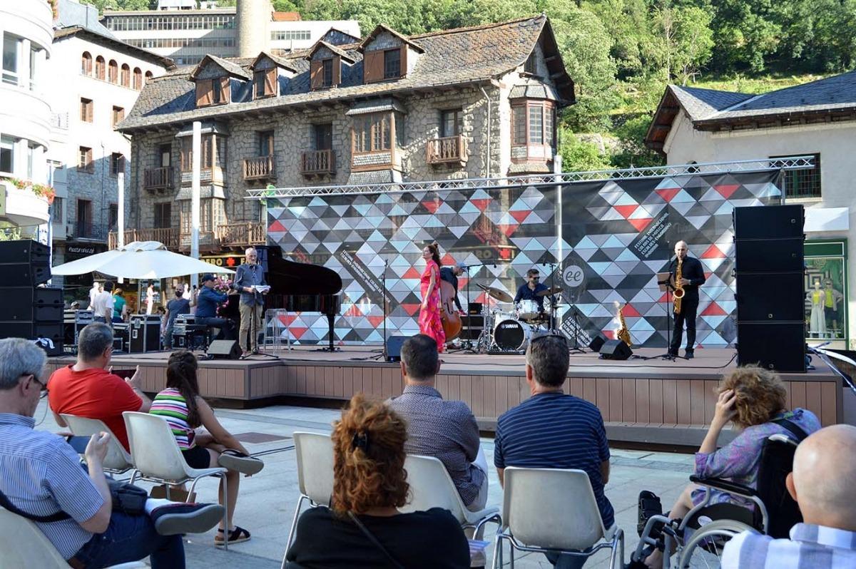 Un moment de l'actuació de Josep Maria Ubach & Quintet.AD Project.