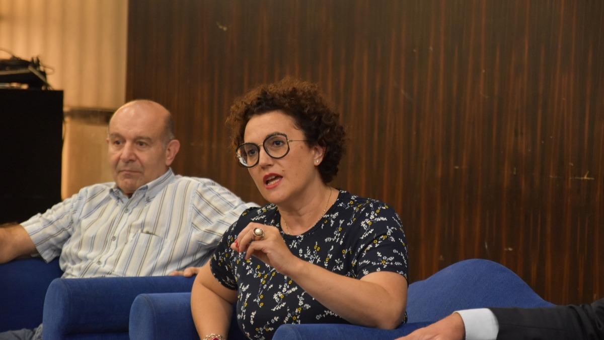 La ministra Judith Pallarés en un moment de la seva intervenció a les jornades de la Liberal Internacional.