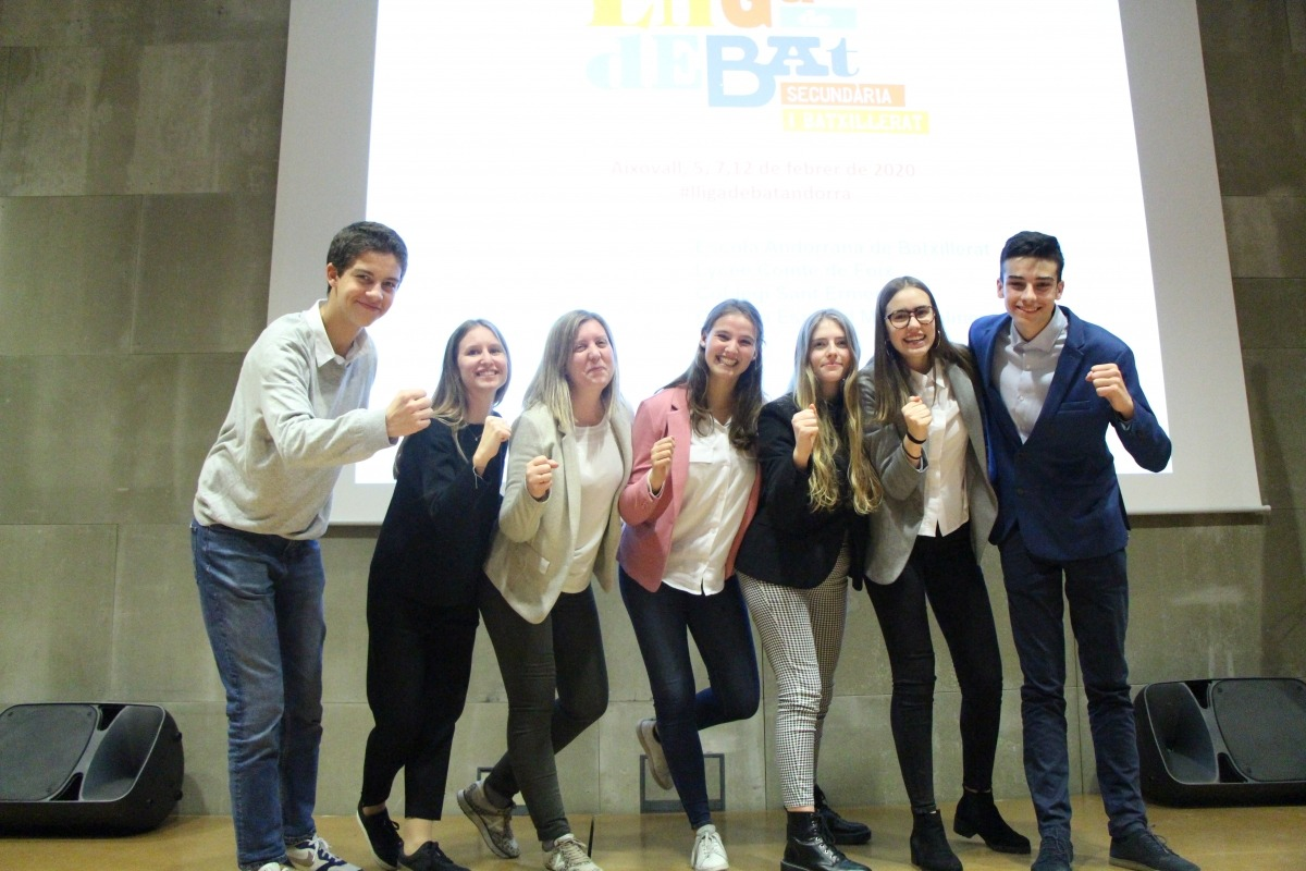 L'equip 1 de l'escola andorrana que s'ha proclamat guanyador.