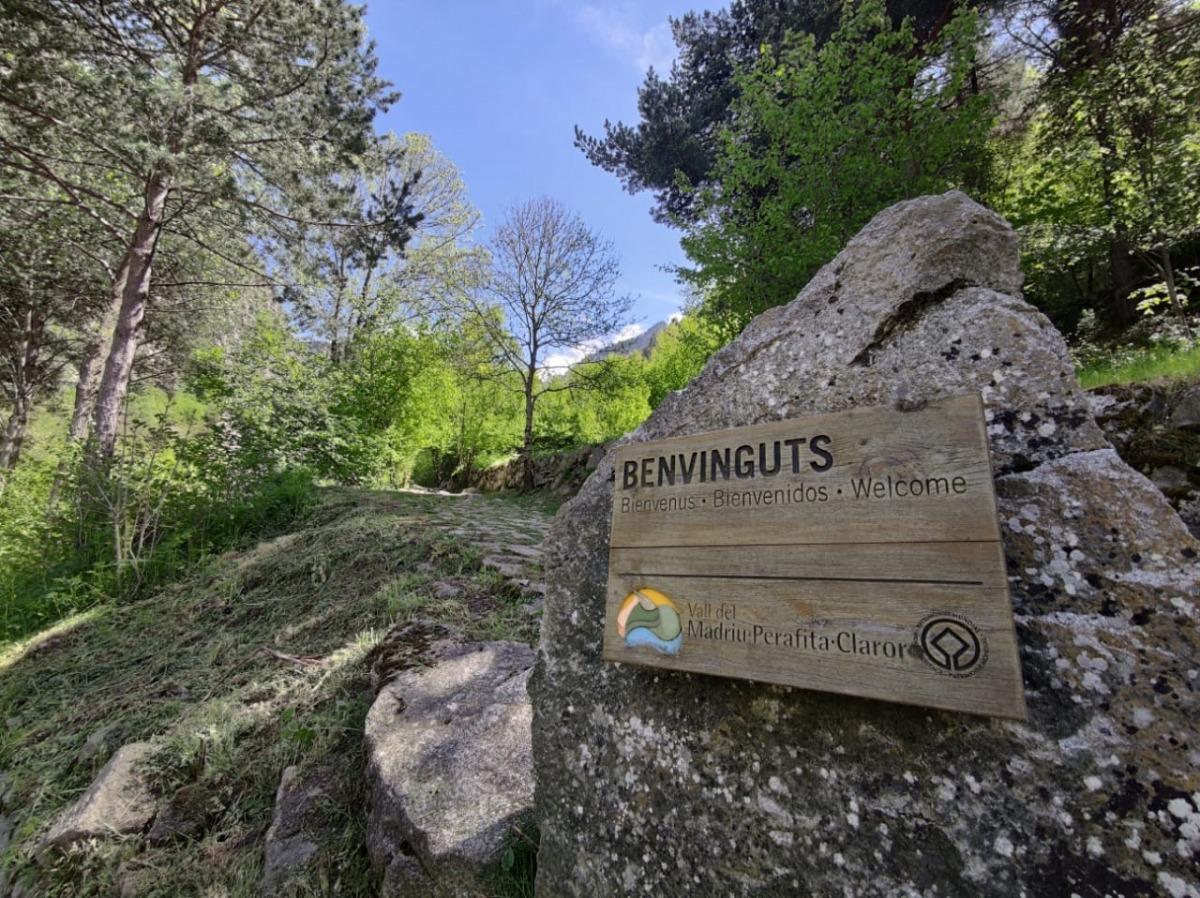 Accès escaldenc a la vall del Madriu per la banda d''Engolasters.