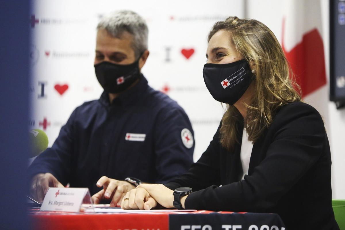 La pilot de raids Margot Llobera, a la Creu Roja Andorrana. Foto: Facundo Santana