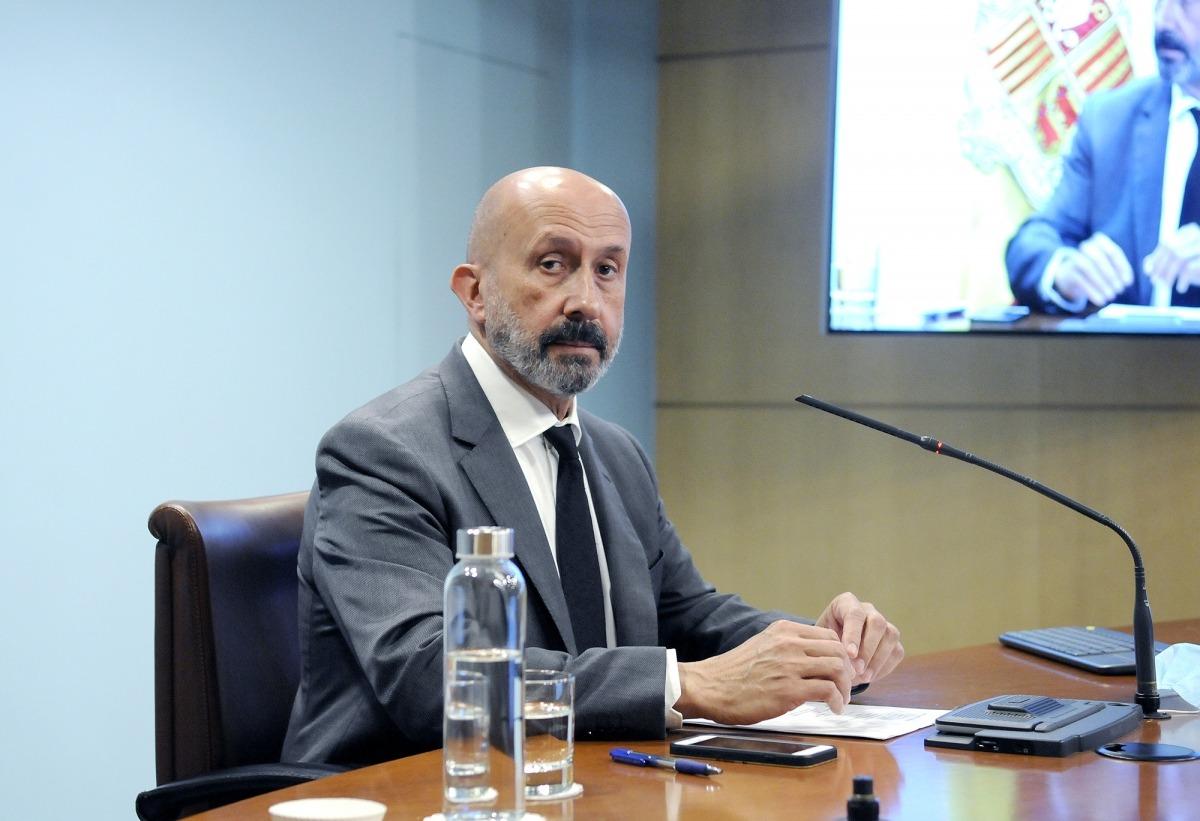 El ministre de Salut, Joan Martínez Benazet, en una compareixença anterior.
