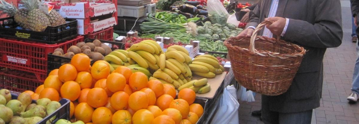 Imatge d'arxiu d'una de les parades del mercat.