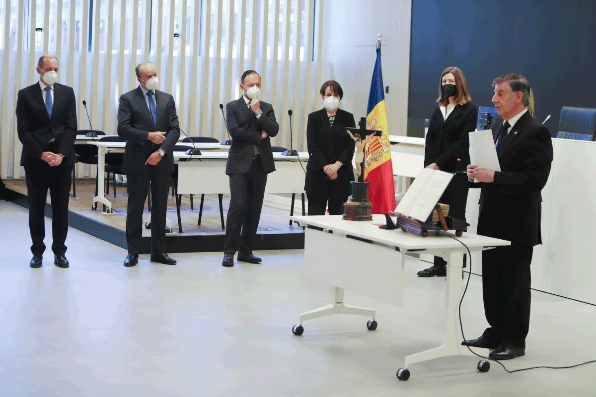 Un instant de l'acte celebrat a la sala magna de la nova Seu de la Justícia.