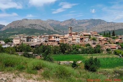 Vista d'Oliana, focus de la complicada situació a la comarca.