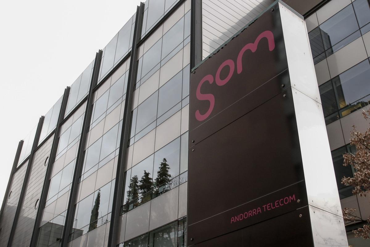 Les instal·lacions d'Andorra Telecom a Santa Coloma.