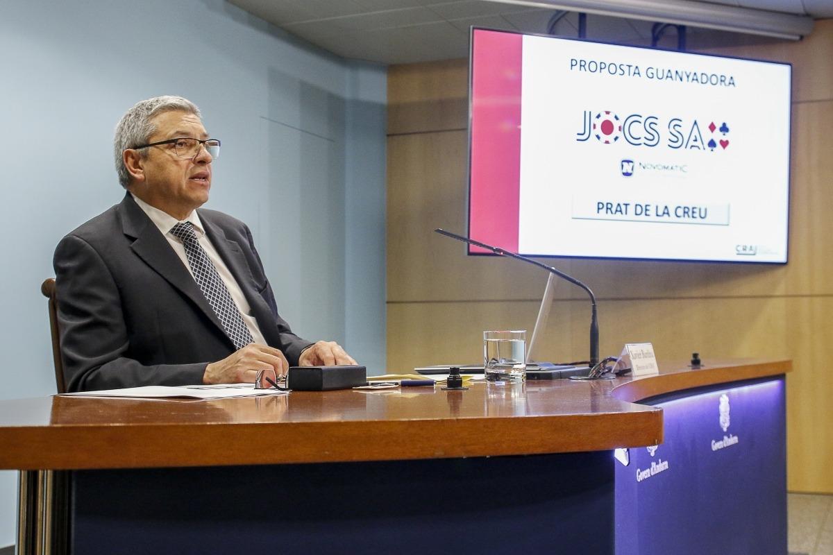 El director del Consell Andorrà Regulador del Joc, Xavier Bardina, va anunciar ahir el guanyador del concurs.