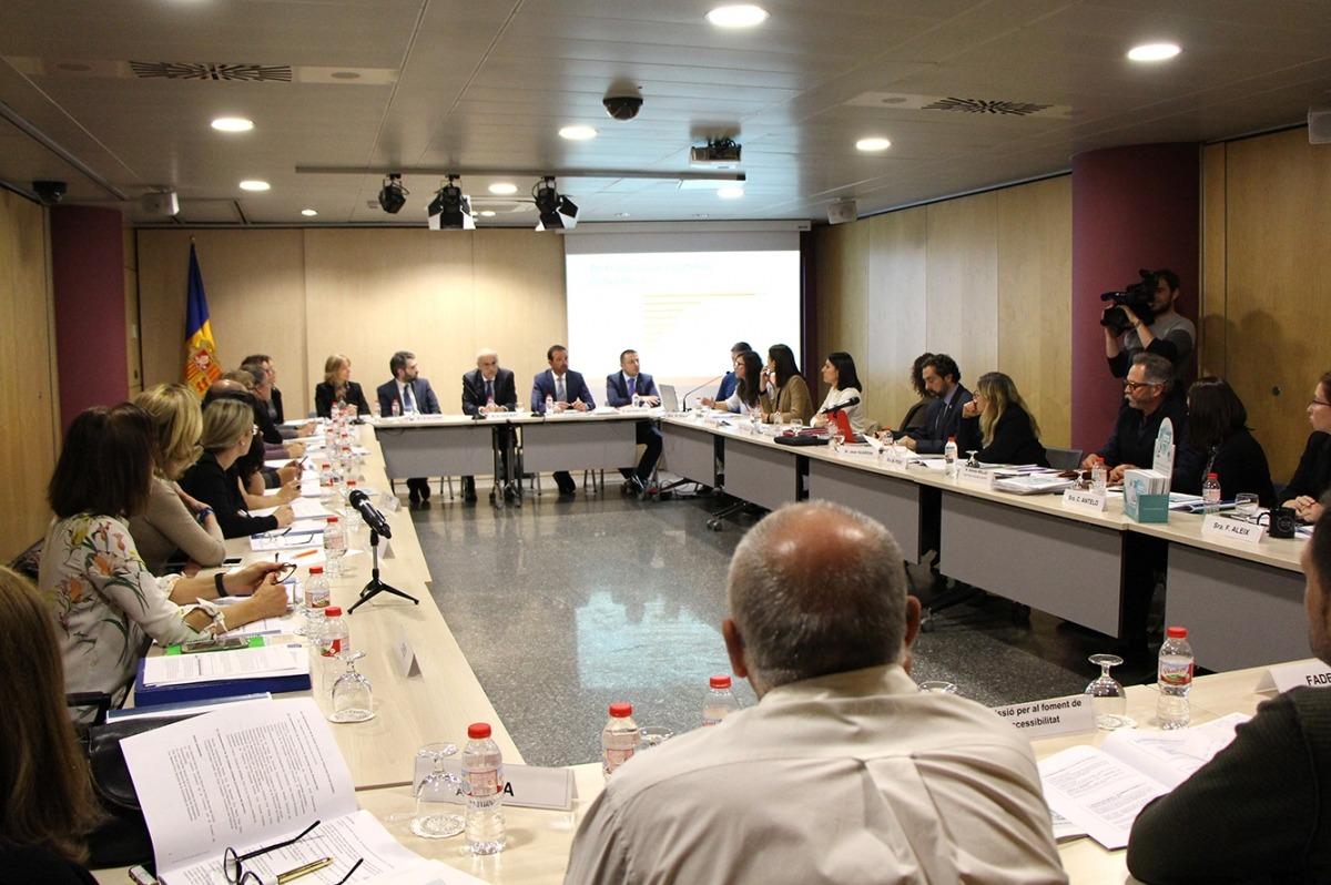 Un moment de la reunió del Conadis que va tenir lloc ahir.