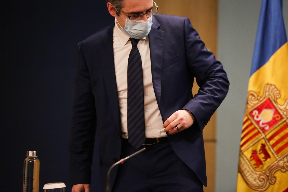 El titular de Finances i portaveu de l'executiu, Eric Jover, abans de la compareixença posterior al consell de ministres.