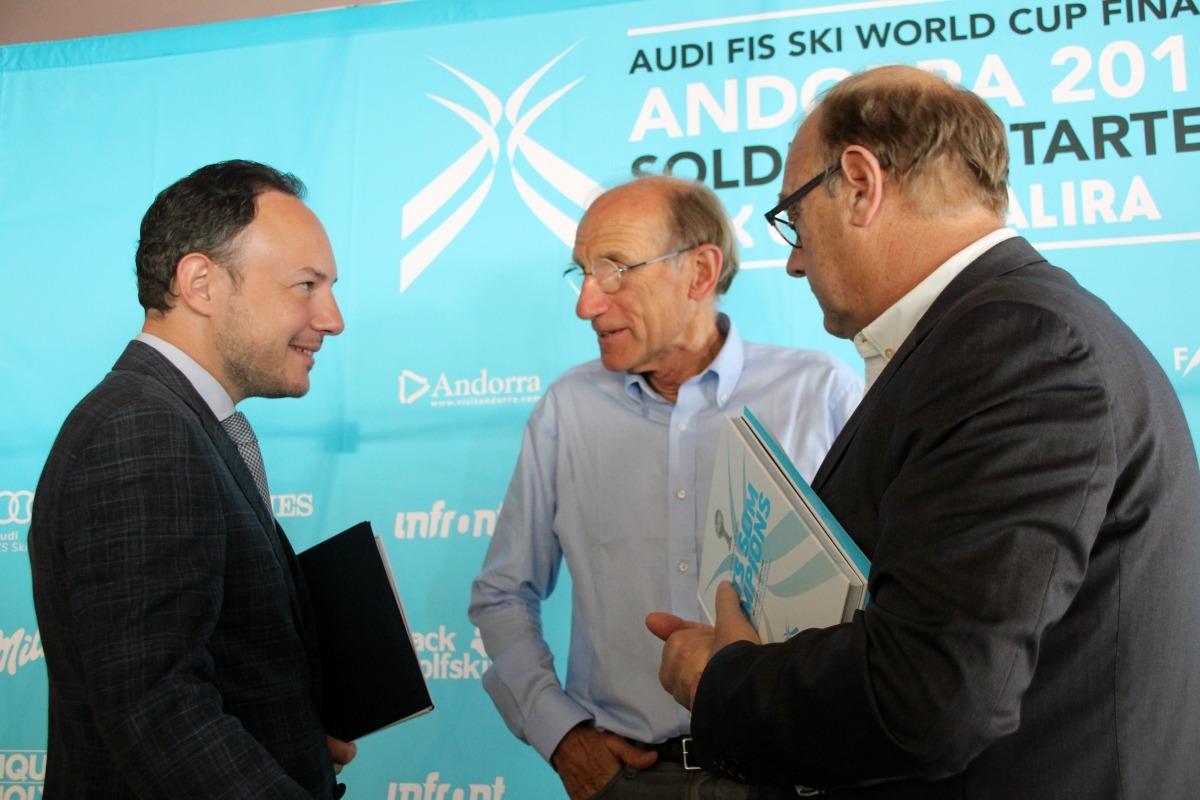 El cap de Govern, Xavier Espot, va atendre els mitjans en la presentació de l'impacte de les finals de la Copa del Món.