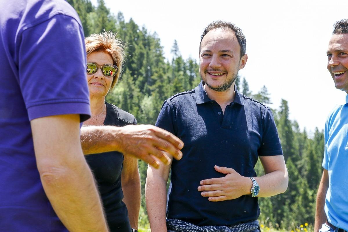 Xavier Espot va participar en la festa de la benedicció del bestiar a la vall de Setúria, a Pal.