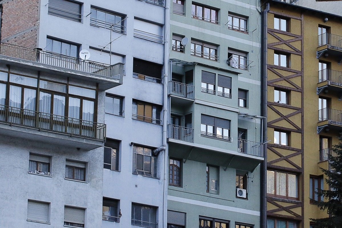 Habitatges a la parròquia d'Andorra la Vella.