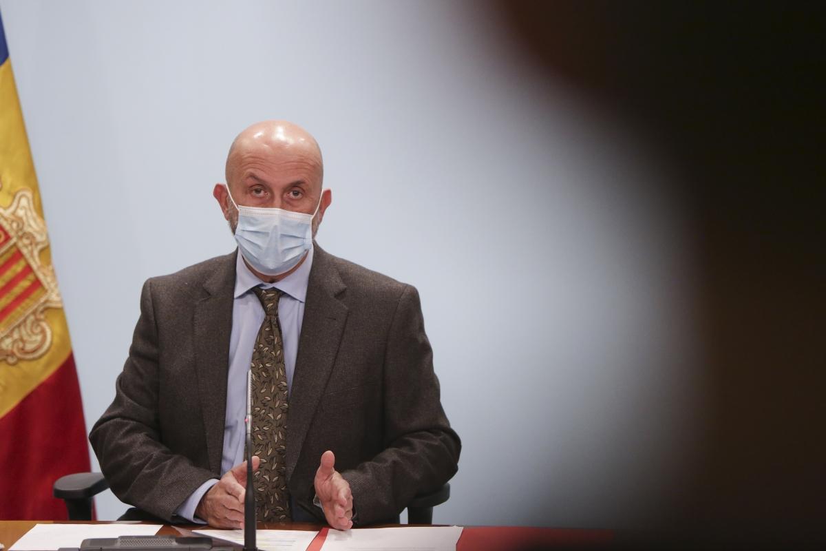 El ministre de Salut, Joan Martínez Benazet, durant la roda de premsa.