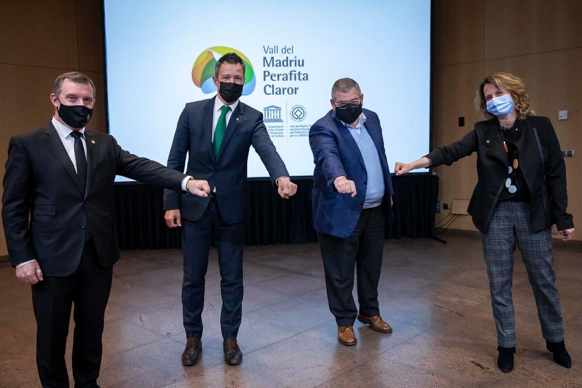 Majoral, Astrié, Rascagneres i Gili van escenificar i celebrar el consens assolit per aprovar l'ordinació reguladora en un acte el mes de maig passat.