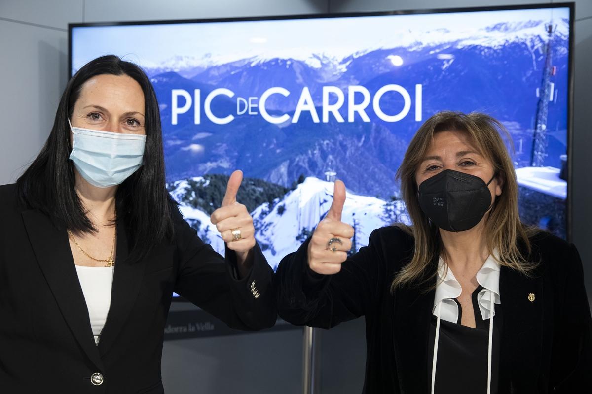 Les cònsols majors d'Andorra la Vella i la Massana, Conxita Marsol i Olga Molné, han comparegut aquest dilluns per presentar el plec.