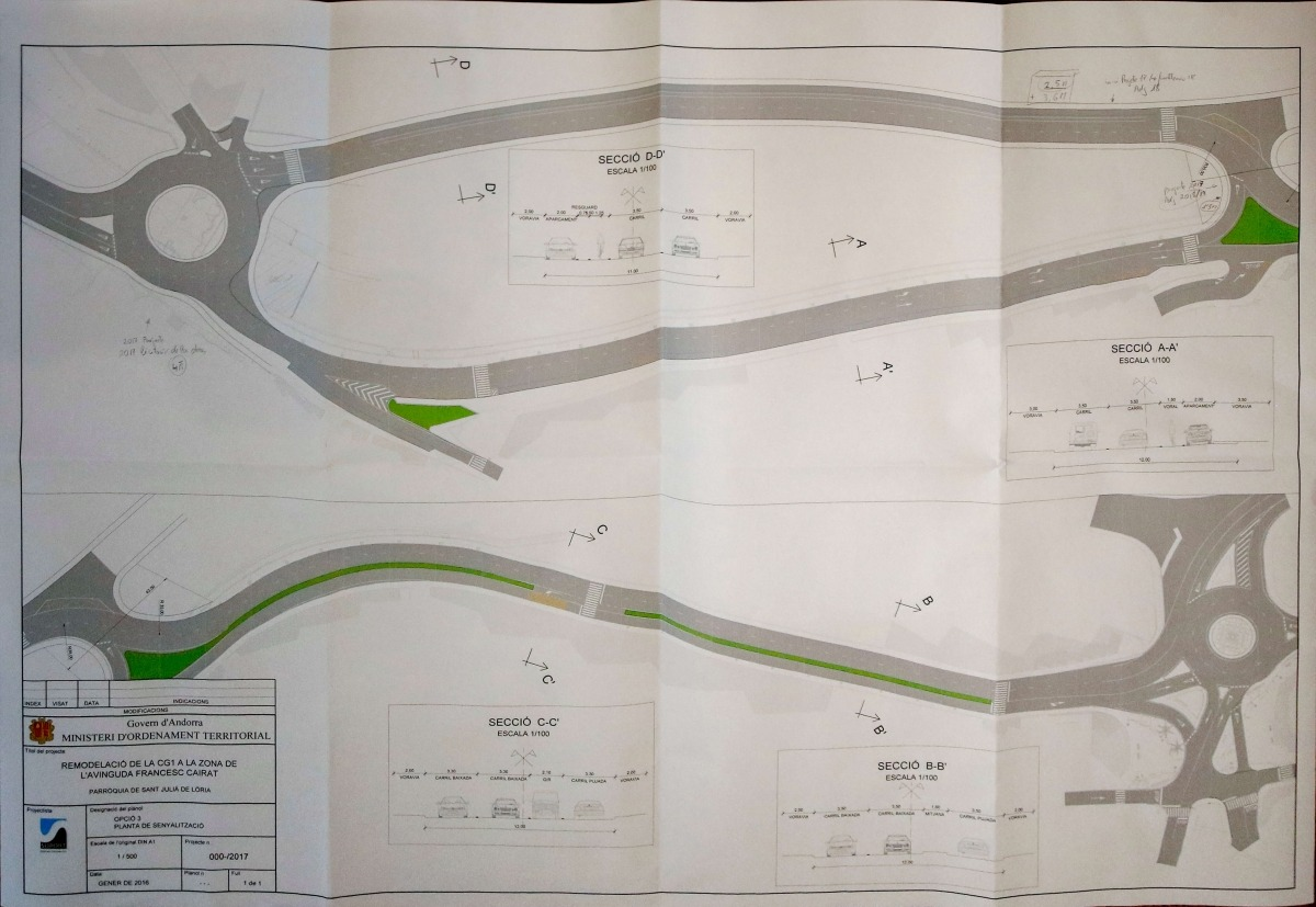 L'inici de la fase 1 del vial de Sant Julià s'adjudicarà abans de fi d'any