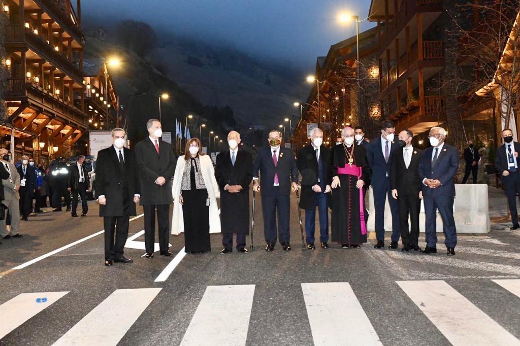 Els mandataris que participaran presencialment en la Cimera durant la seva arribada a Soldeu.