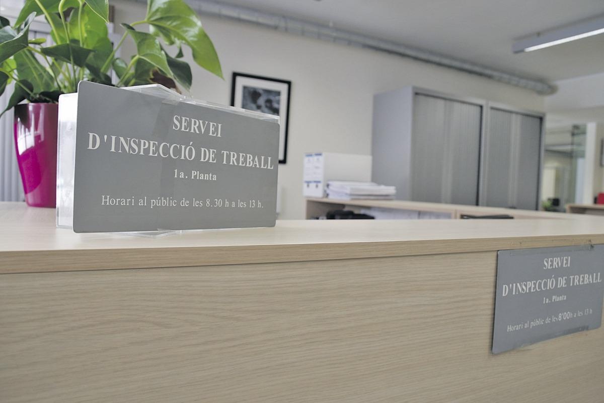 Interior del Servei d'Inspecció de Treball.