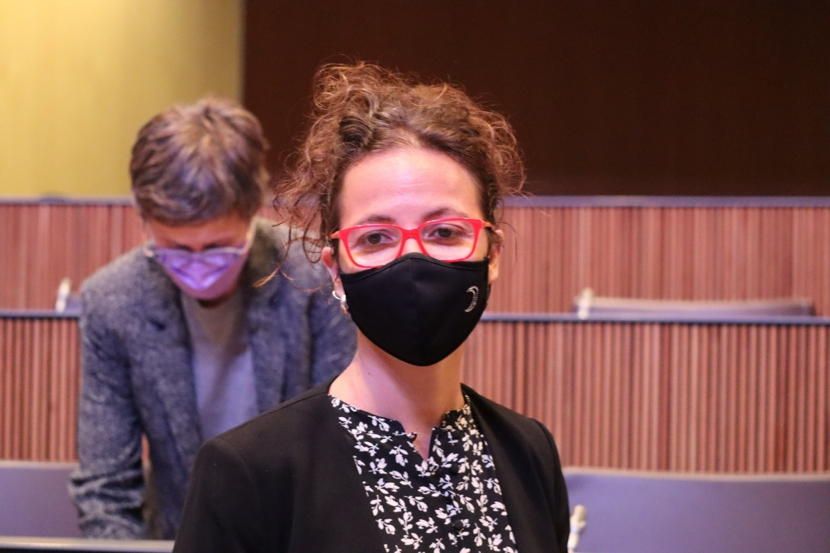 La consellera general socialdemòcrata Judith Salazar ahir a la cambra parlamentària.