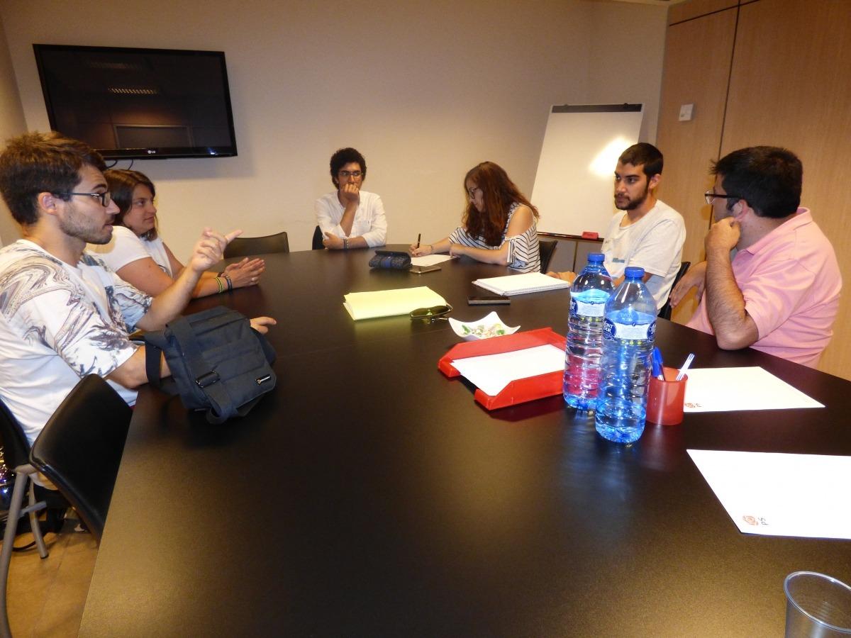 Un moment de l'assemblea de la Joventut Socialdemòcrata d'Andorra.