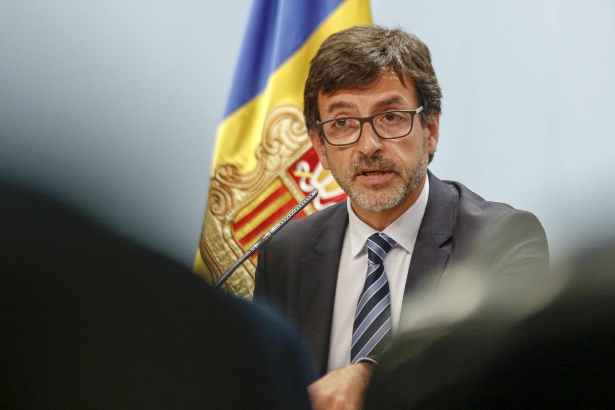 El ministre portaveu, Jordi Cinca, durant la roda de premsa.