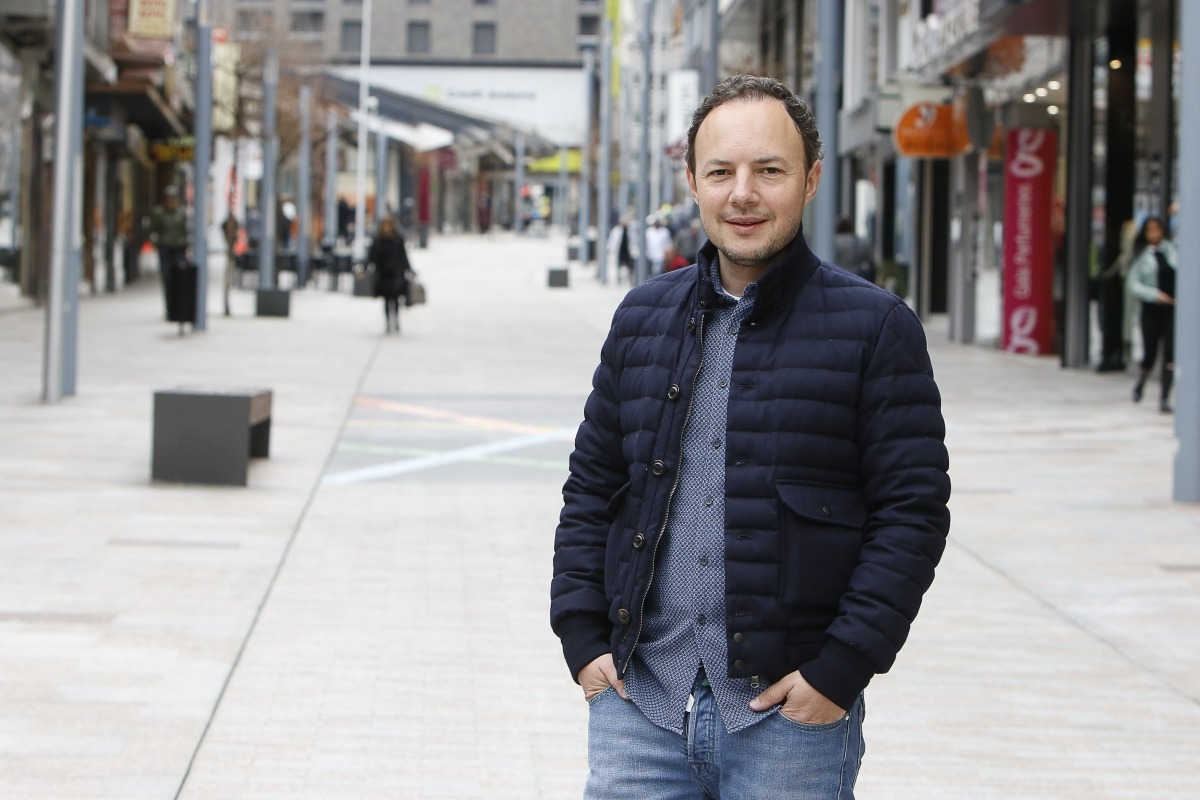 El conseller general i candidat a cap de Govern demòcrata, Xavier Espot.