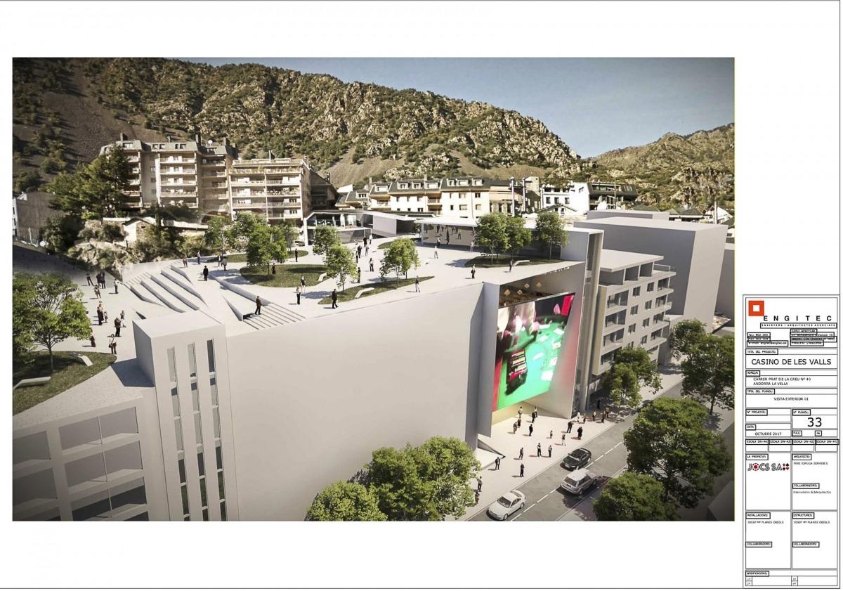El projecte del casino de Jocs SA, al carrer Prat de la Creu.