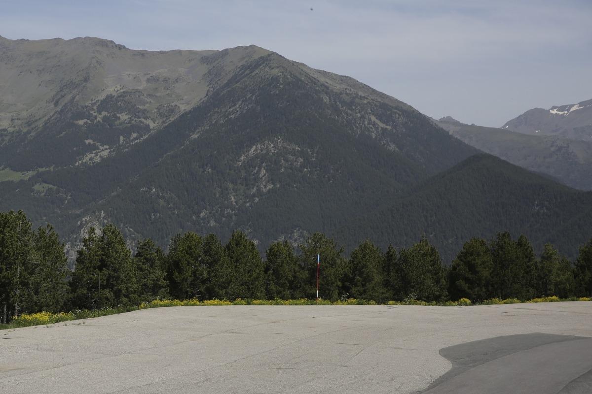 El pla de la Caubella on es preveu construir l'heliport nacional.