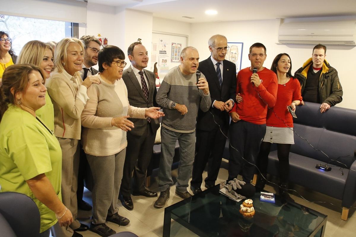 Martí, Espot i Jover van visitar ahir l'Escola Meritxell.